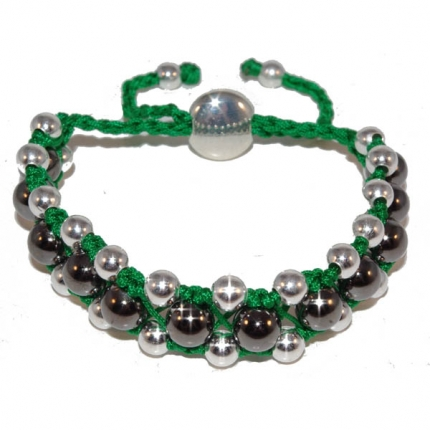 Green Shamballa Tresor Paris style Friendship Bracelet